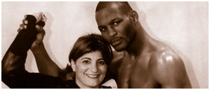 Kimia Zabihyan with Bernard Hopkins